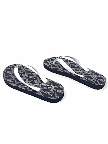 f927a1f1c866 Image Unavailable. Image not available for. Color  Michael Kors Jet Set PVC  Logo Womens Flip Flops ...