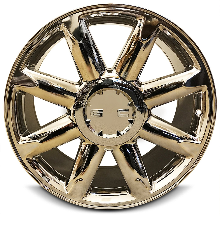 New 20 Inch GMC Sierra 1500 Denali Yukon 6 Lug Replacement Chrome Wheel Rim 20x8.5 Inch 6 Lug 78.1mm Center Bore 31mm Offset 9595662