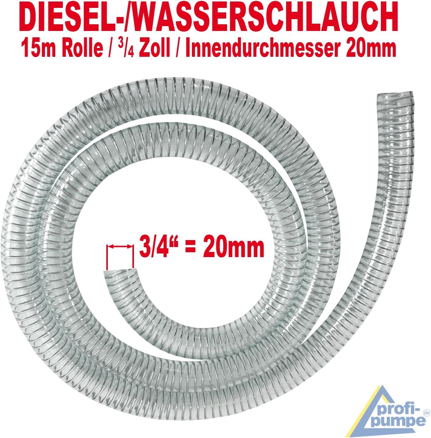 Benzinschlauch f/ür /Ölpumpe Spiralschlauch Saug-//Druckschlauch f/ür Diesel Pumpe Heiz/öl Pumpe Wasserpumpe AMUR Dieselschlauch Spiralschlauch 1 Zoll - 5m /Ölschlauch