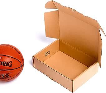 TeleCajas®   (25x) Caja de Cartón Postales Kraft   Cajas Automontables con Tapa para Almacenaje   Medidas: 35x25x10 cms   Lote de 25 uds: Amazon.es: Oficina y papelería