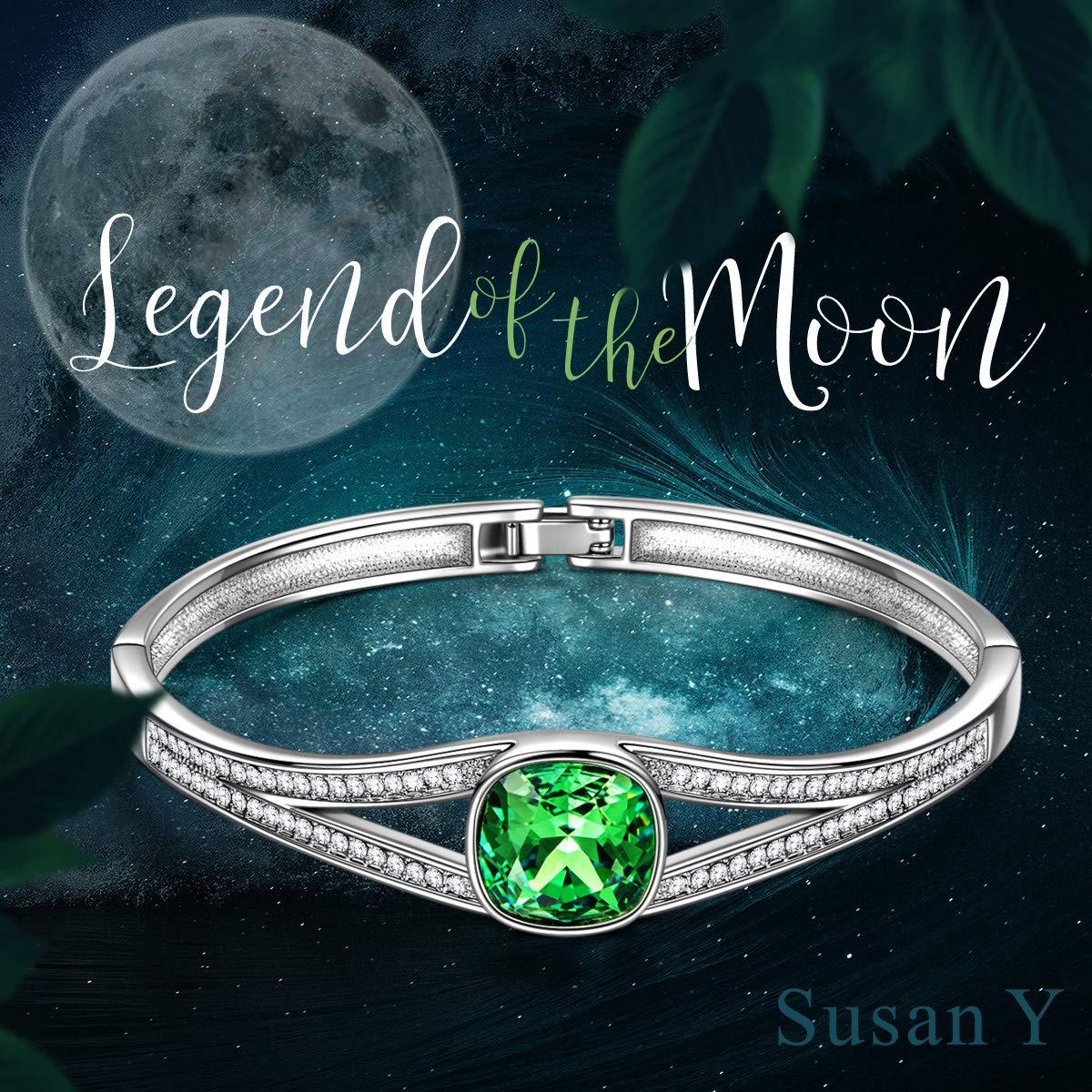 aspetto dettagliato 0d7ee ae37c SUSAN Y FOREVER Elegance Verde Bracciale Donne Cristalli ...