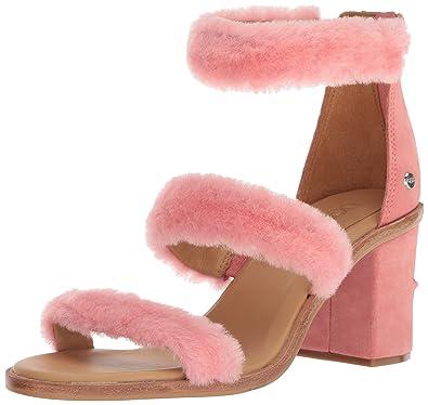 e9fa4ea5f68 UGG Women's W Del Rey Fluff Heel Heeled Sandal