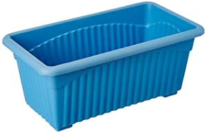 First Smart Deal Plastic Rectangle Pot (Blue, Pack of 3)