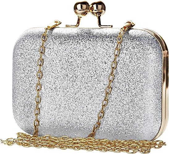 Orfano Australia giocattolo  Bakacase Pochette Donna Elegante da Cerimonia Bling Mini Borse a Tracolla ( Argento): Amazon.it: Scarpe e borse