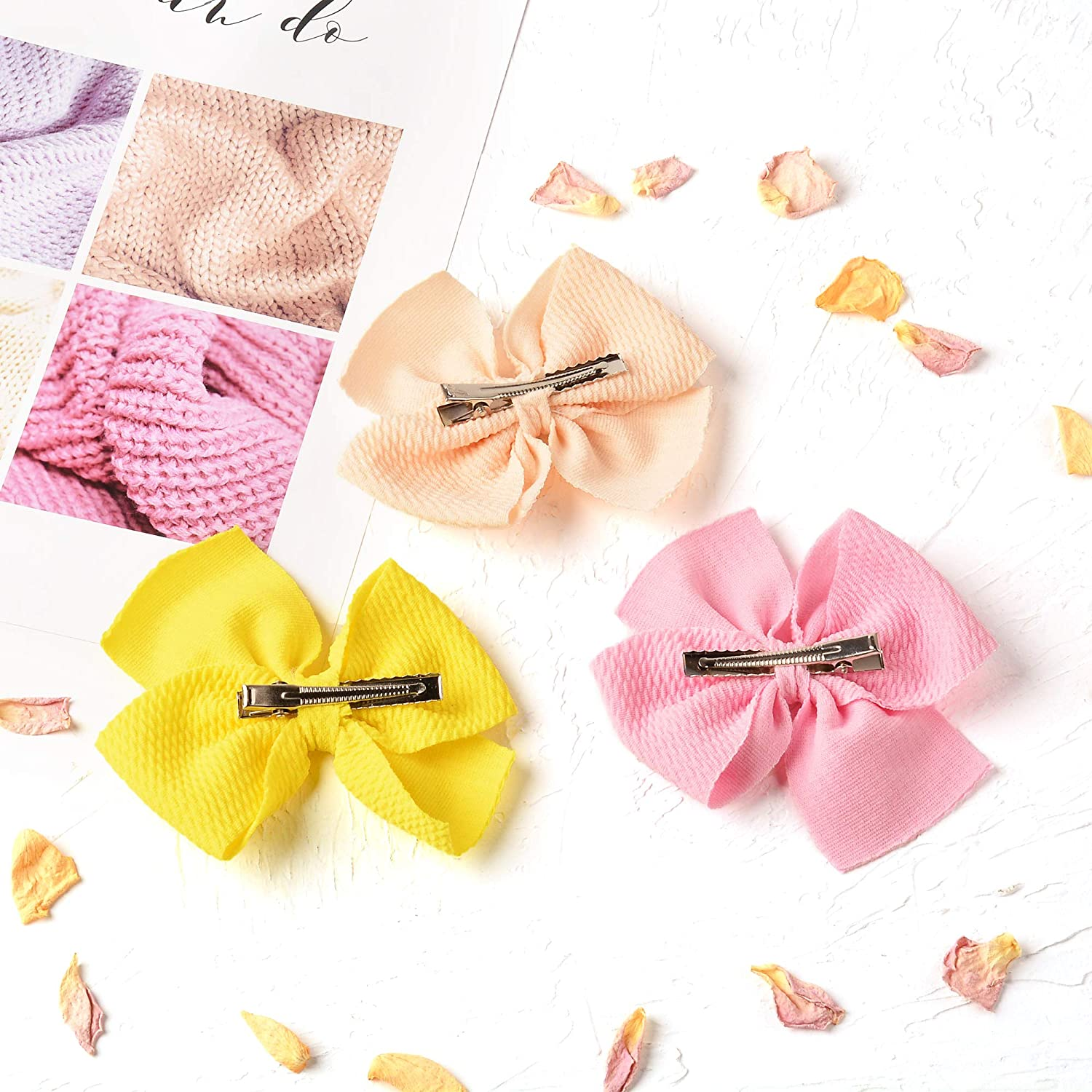 Baby Girl Waffle Bow Alligator Clip Bows