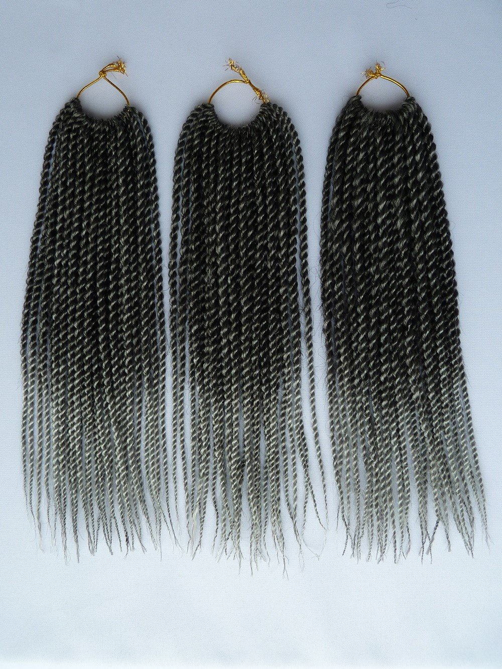Leyoo 12 Senegalese Twist Crochet Hair (120 Roots/Box) Thin Havana Mambo Crochet Braids Hair Extension For Kids (CA M1B/27)