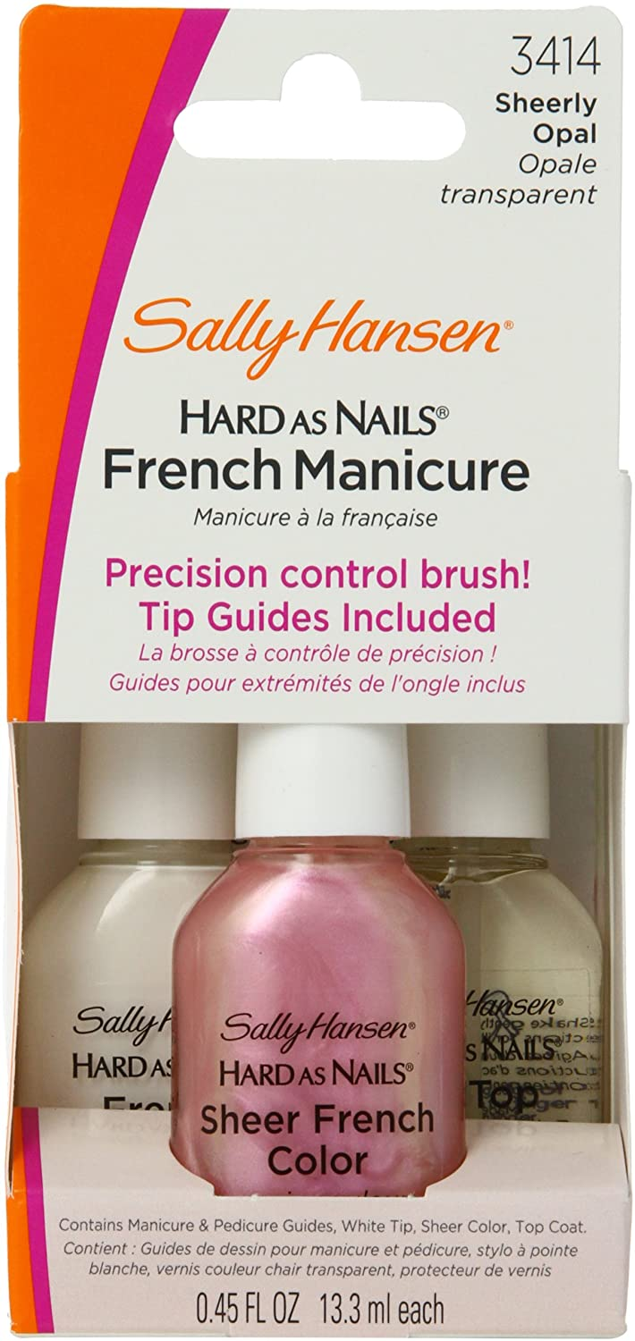 Amazon.com: Sally Hansen Hard as Nails French Manicure, Nearly Nude ...