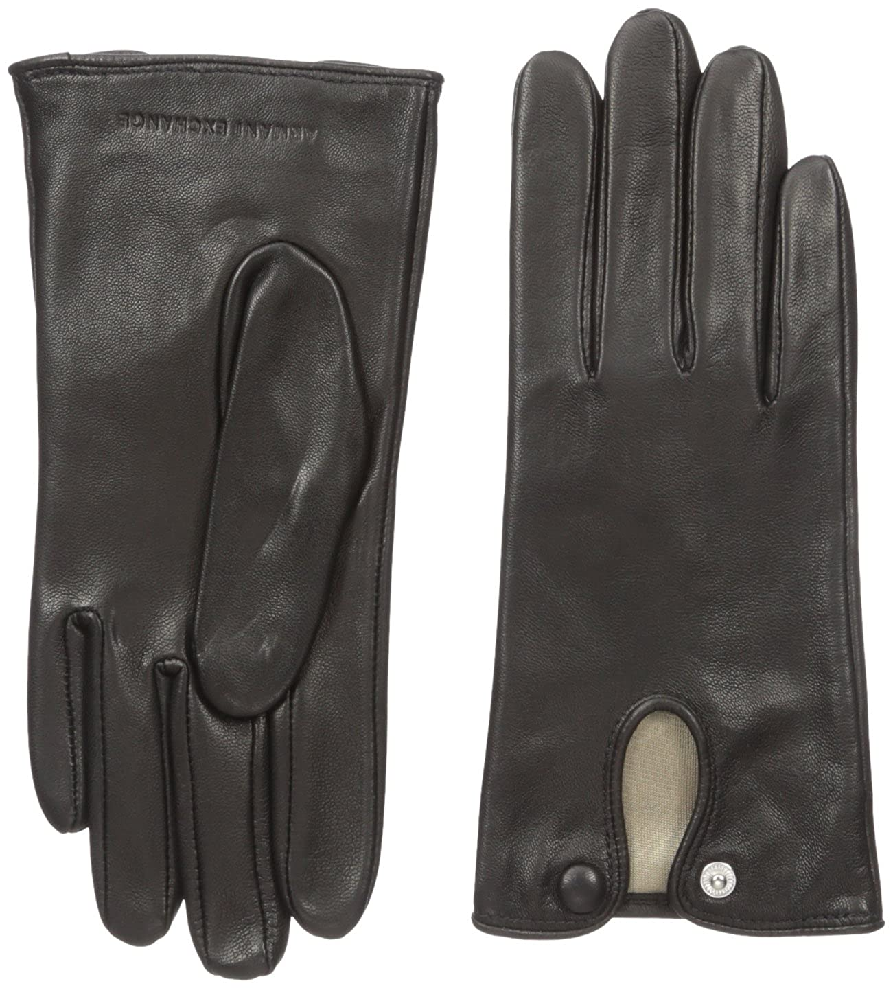 A|X Armani Exchange Women's Covered Snap Leather Gloves 9440186A045