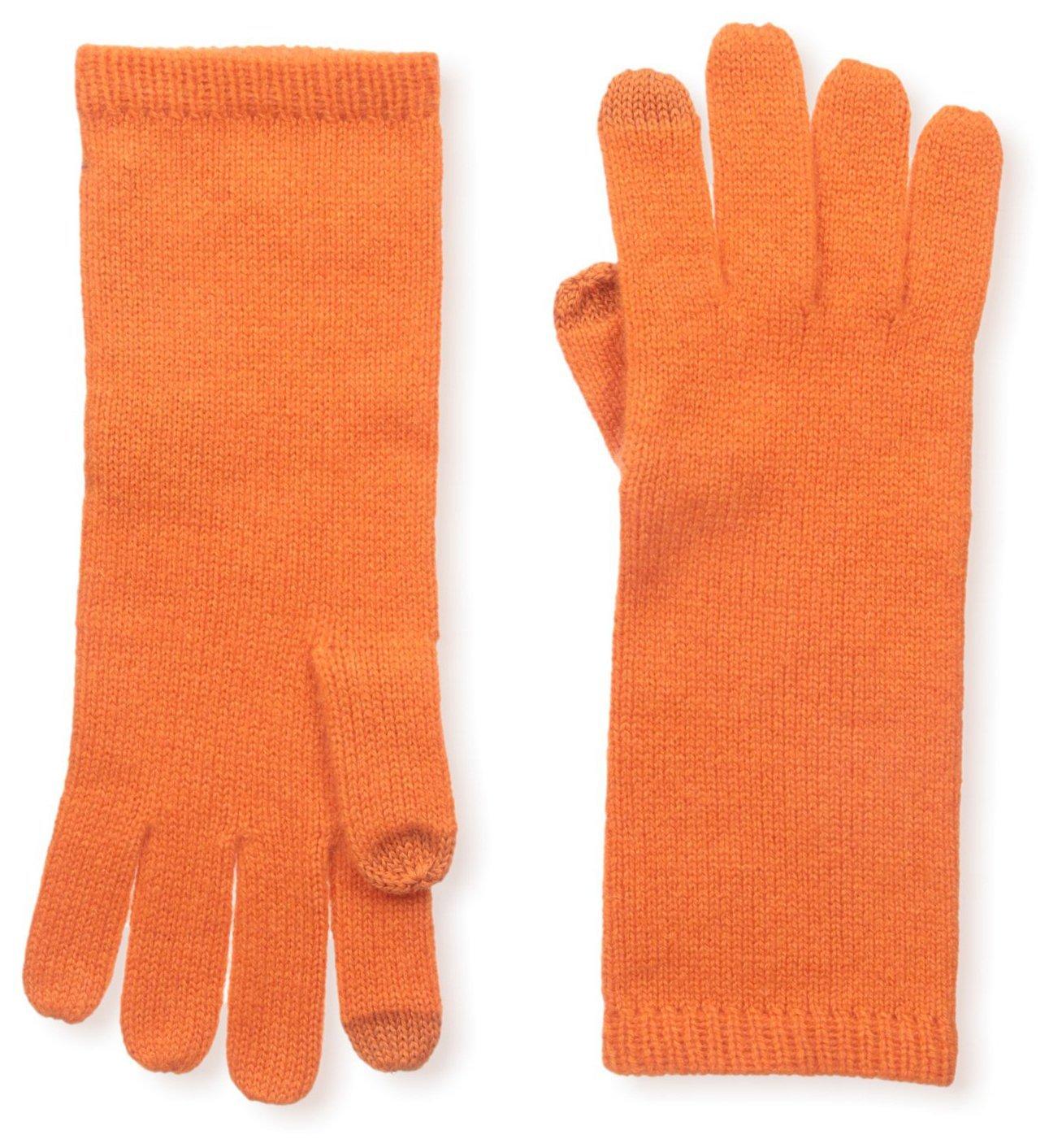 Sofia Cashmere Women's Smartphone Gloves, Orange