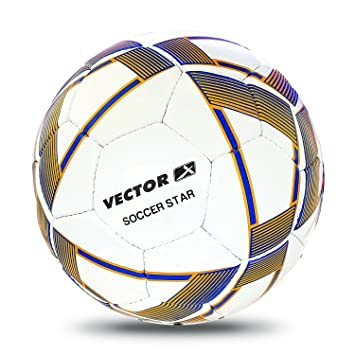 f315408054f Buy Vector X Soccer Star Football (White-Yellow-Blue) Online at Low Prices  in India - Amazon.in