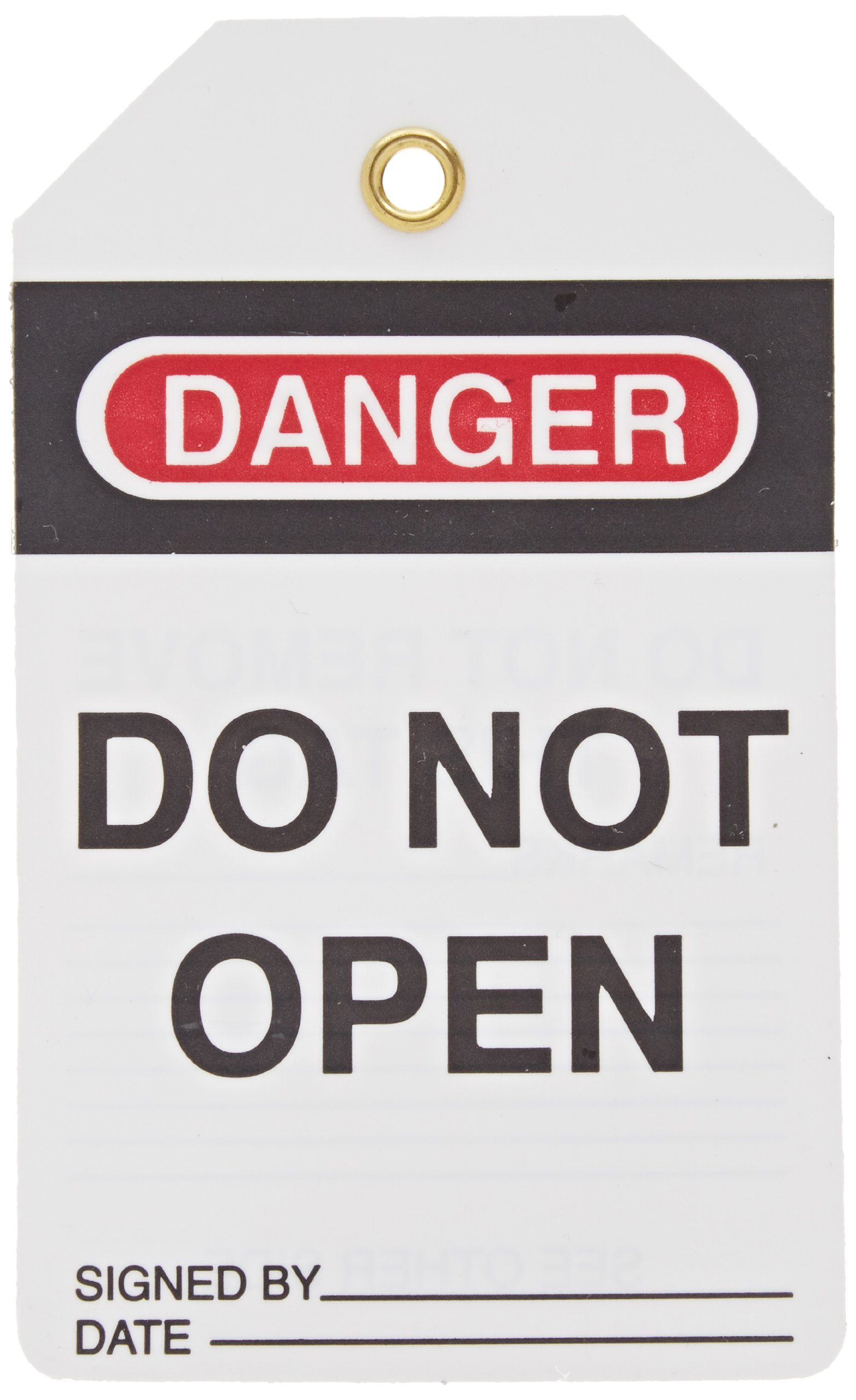Lockout Tag, Super Laminated, Reusable Lockout Tag, Legend ''Do Not Open'', 5-1/2'' Length x 3-1/4'' Width