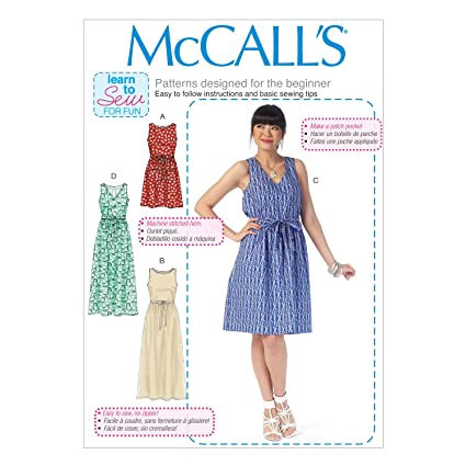 McCalls Patterns M7159 Misses Dresses Sewing Template, ...