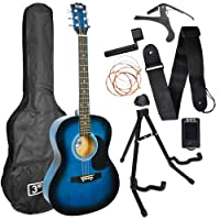3rd Avenue Acoustic Guitar Premium Beginner Starter Pack - Blueburst