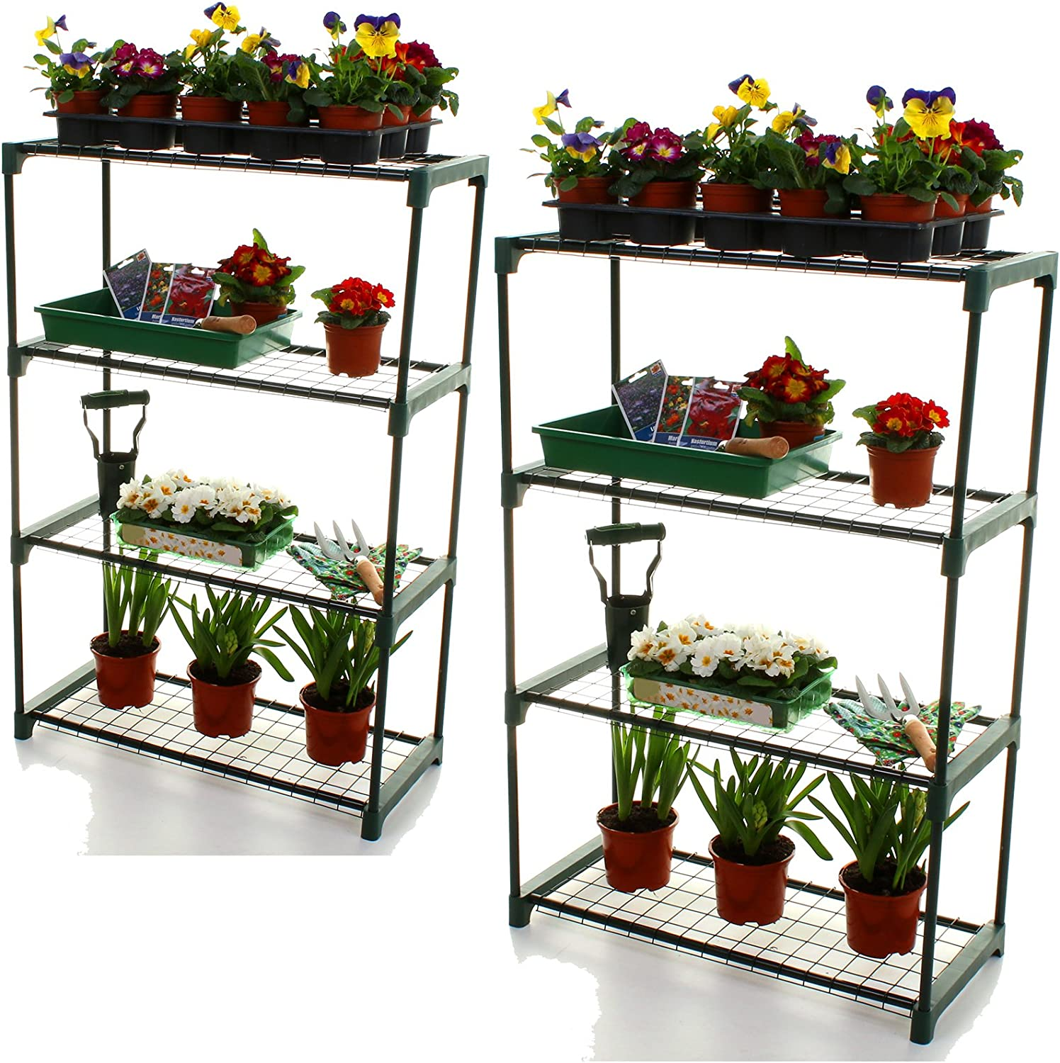 Greenhouse Garden Shelving Unit 2 x 4 Tier Garage Shed Plant Tool Storage New