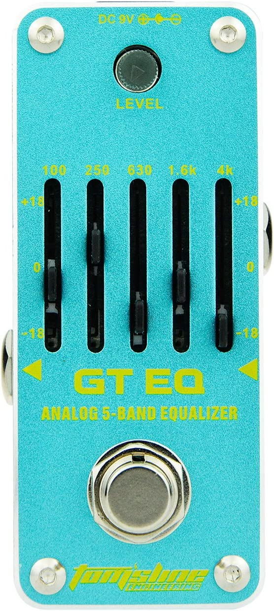 AROMA AEG-3 GT EQ Analog 5-Band Equalizer Efecto de guitarra eléctrica Pedal Mini efecto simple con True Bypass