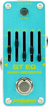 AROMA AEG-3 GT EQ Analog 5-Band Equalizer Efecto de guitarra eléctrica Pedal Mini efecto simple con True Bypass