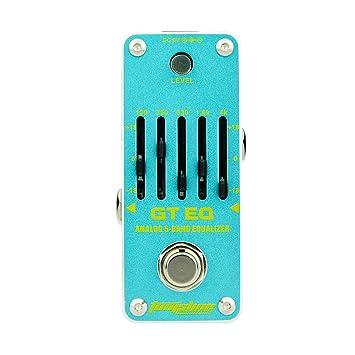 AROMA AEG-3 GT EQ Analog 5-Band Equalizer Efecto de guitarra eléctrica Pedal Mini efecto simple con True Bypass: Amazon.es: Instrumentos musicales