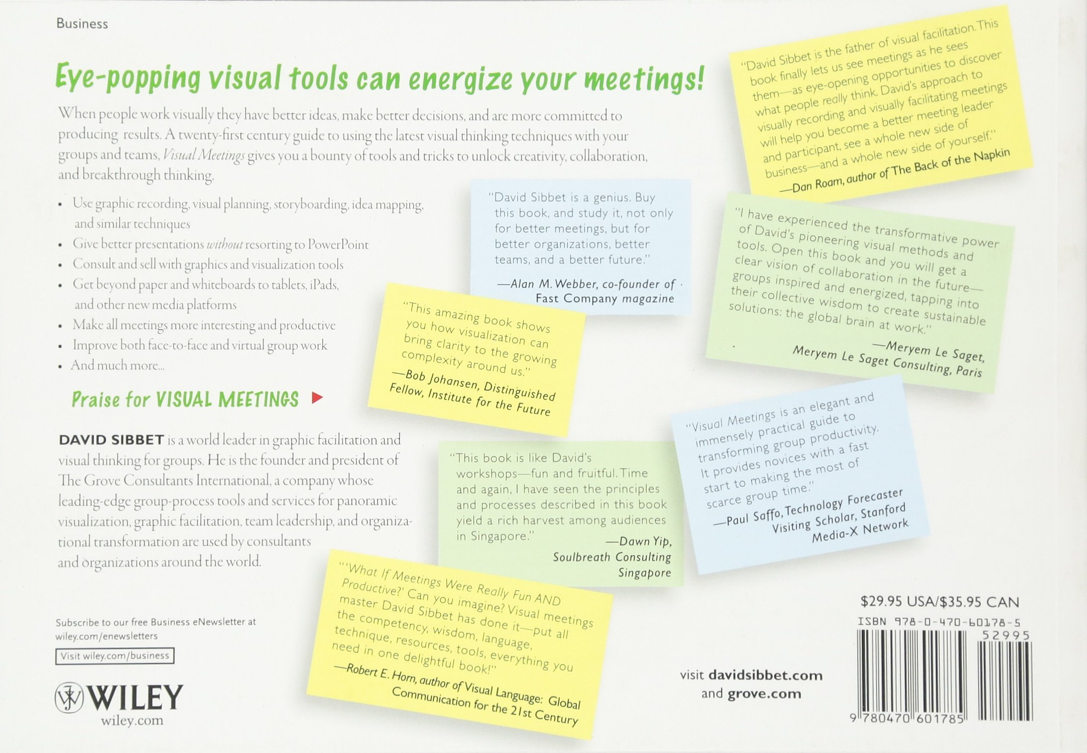 Visual meetings how graphics sticky notes and idea mapping can visual meetings how graphics sticky notes and idea mapping can transform group productivity david sibbet 8601404335938 amazon books fandeluxe Gallery