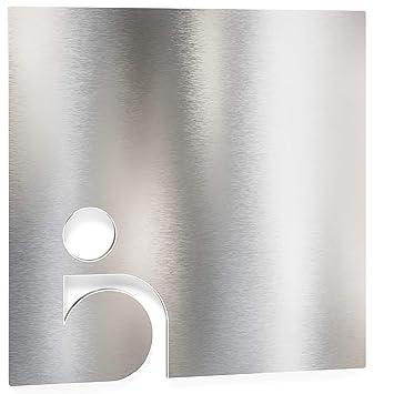 Enseigne de WC en acier inox - autoadhésif et facile à ...