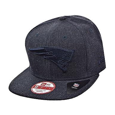aa8dddb523121 New Era New England Patriots NFL 9Fifty Men's Heather Snapback Hat Cap Navy  Blue 80308954 (
