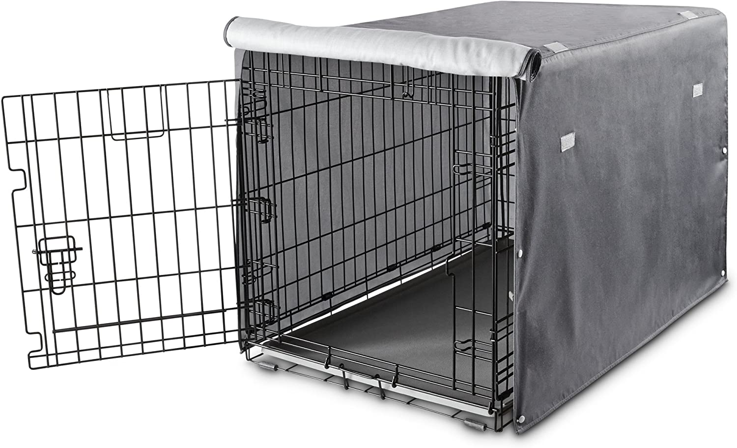 You Me Dog Crate Cover in Grey, 49 , XX-Large