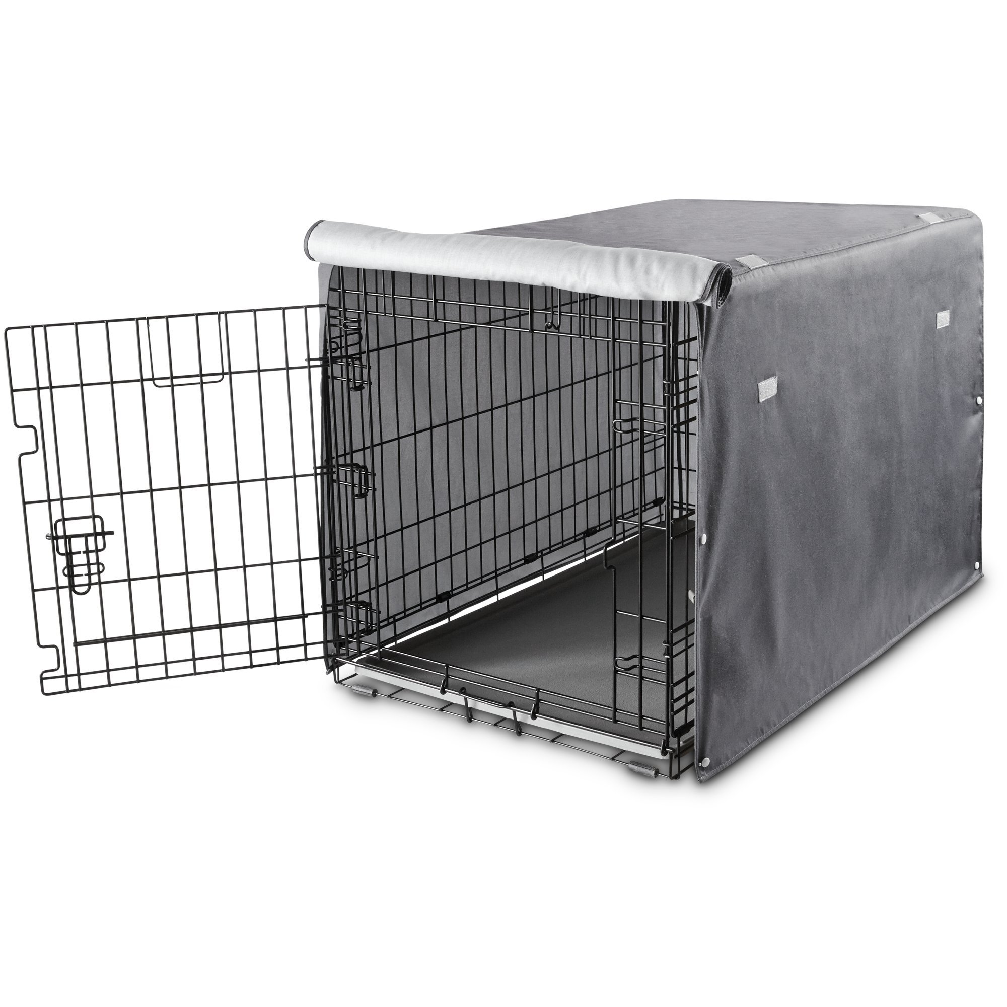 You&Me Dog Crate Cover in Grey, 37'', Large