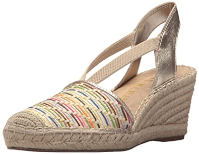 ebf93fe27d82 Anne Klein Women s Abbey Espadrille Wedge Sandal Natural Multi 10 ...