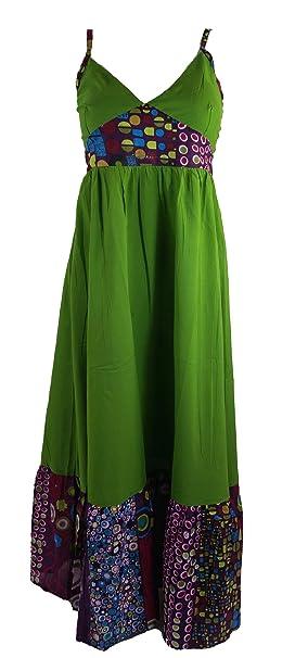 Largo vestido de verano vestidos largos hippie Chic/verde