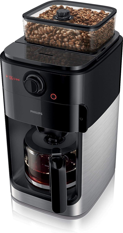 Philips HD7767/00 Grind & Brew Filter - Cafetera de plástico (1,2 L, acero inoxidable), color negro: Amazon.es: Hogar