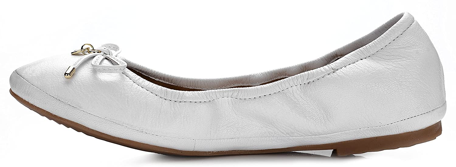 Eureka USA B(M) Women's Universe Leather Ballet Flat B074V2DSC4 7 B(M) USA US|202 Cream White 220270