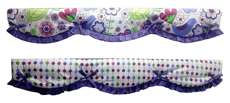 Bacati Botanical One Piece Reversible Long Rail Guard Cover BIBOMLCR Purple Inc