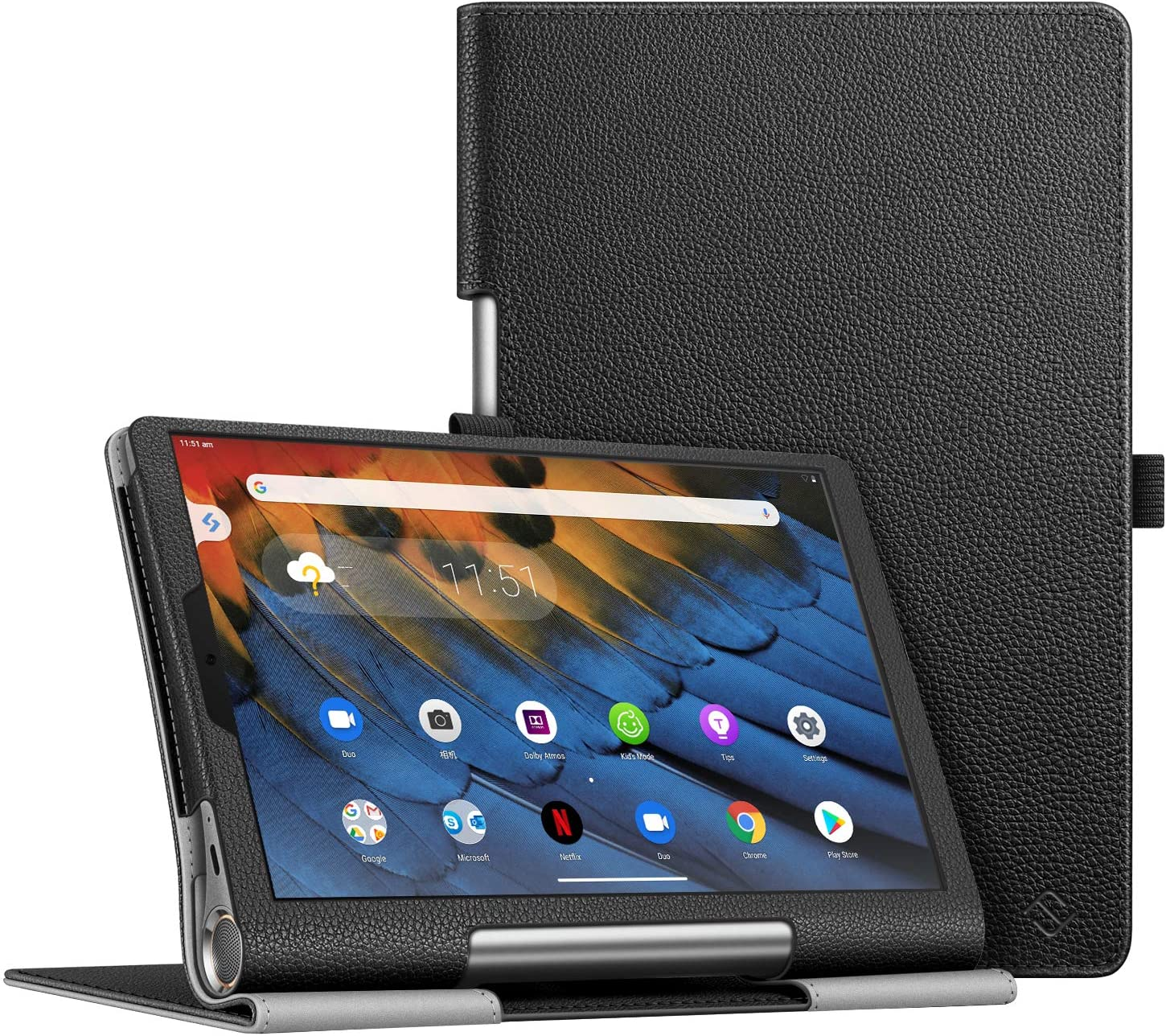Fintie Case for Lenovo Yoga Smart Tab, Premium Vegan Leather Slim Fit Case Folio Smart Stand Protective Cover with Auto Sleep/Wake Feature for Lenovo Yoga Smart Tab 10.1 (YT-X705F) Tablet, Black