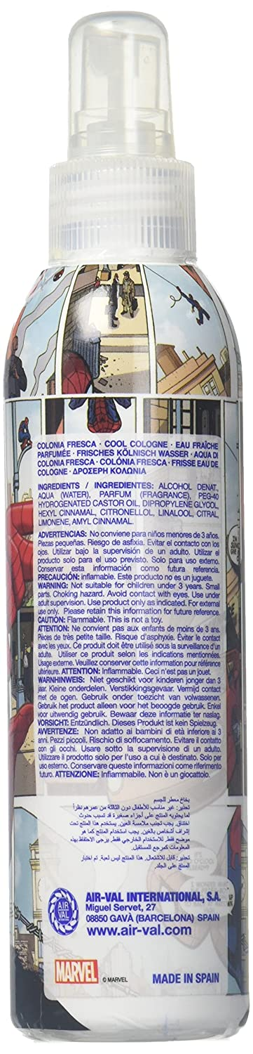 Amazon.com: Marvel Ultimate Spider Man for Kids Cool Cologne Body Spray, 6.8 Ounce: Health & Personal Care
