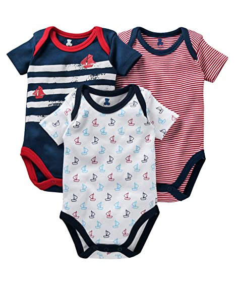 6e86a04b8 I Bears Half Sleeves Onesies Set Pack of 3