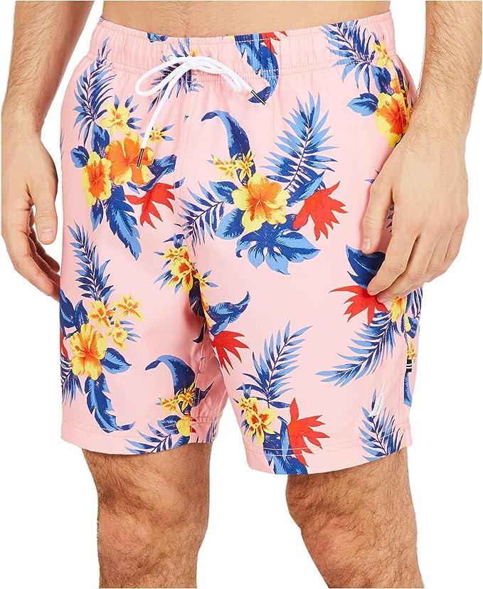 Details about  /Nautica Men/'s Quick Dry Pineapple Print Full Elastic Swim Trunk