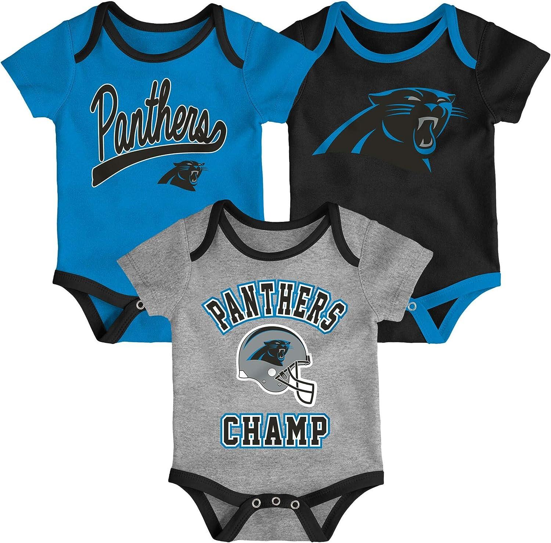 OuterStuff NFL Newborn Infants Nowstalgic Icon 3 Piece Creeper Bodysuit Set