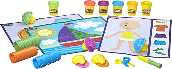 Play Doh Shape and Learn Textures and Tools