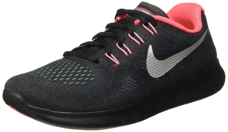 Anthracite Metallic argent noir Nike WMNS Free RN 2017, Chaussures de Running Femme 37.5 EU