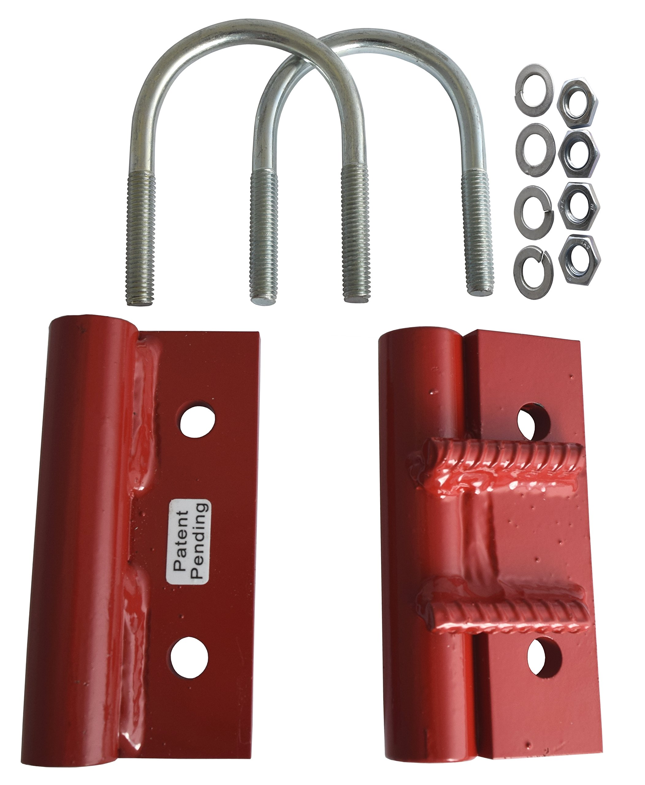 EZ-Hinge - Farm Gate Hinges, 2.5'' Outer Diameter, No Drill, No Weld - 1 Pair