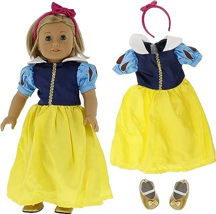 Blue dress fits American Girl doll  Handmade  New