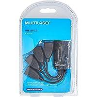 Hub 4 Portas Multilaser Flexível 2.0 Preto - AC042