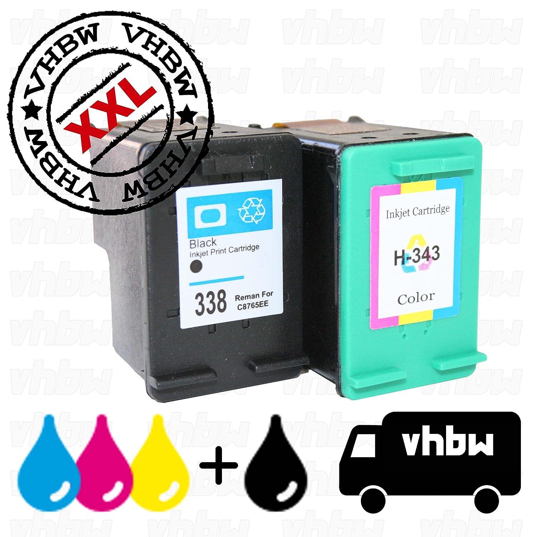 vhbw 2X Cartuchos de Tinta Negra + Color Cartuchos de impresión ...