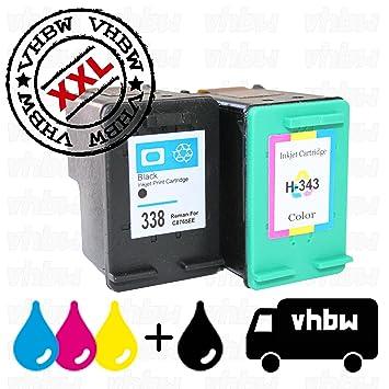vhbw 2X Cartuchos de Tinta Negra + Color Cartuchos de ...
