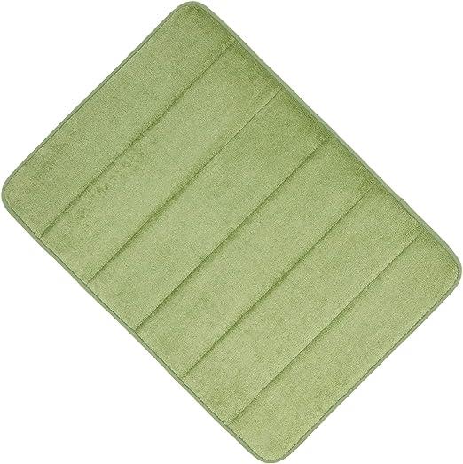 Memory Foam Bath Mat 17x24 Inch Soft Absorbent Luxury Anti Slip Bathroom Rug
