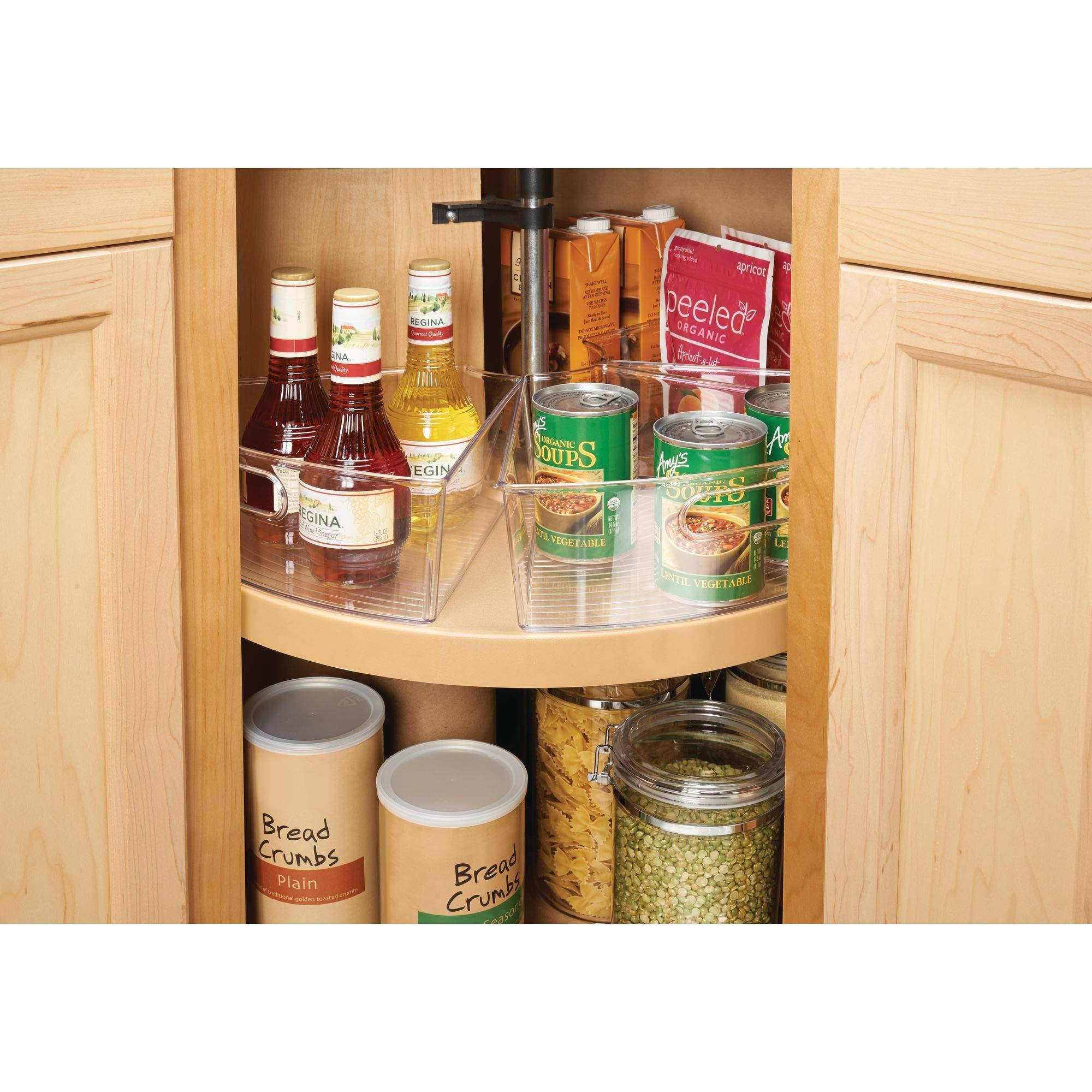Mdesign Kitchen Cabinet Lazy Susan Storage Organizer Bin With Front