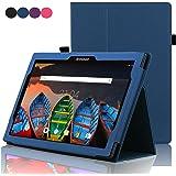 ACdream Lenovo Tab 2 A10 & Lenovo Tab3 10 Business Case, Folio Leather Cover Case Lenovo Tab2 A10-70/Tab2 A10-30/TAB-X103F Tab 10/Tab3 10 Business Tablet, Dark Blue