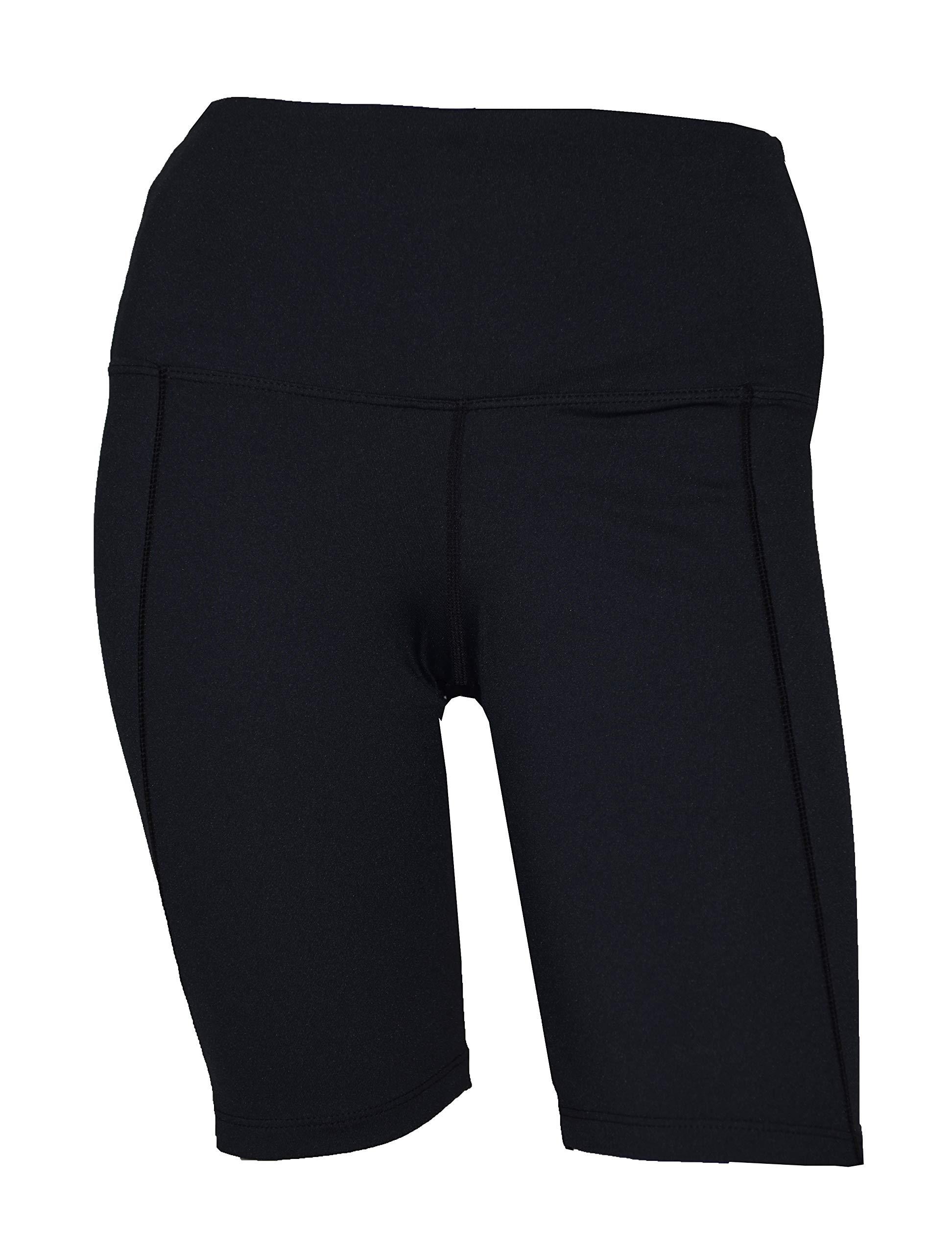 Private Island Women UV Swim Rash Guard Pocket Shorts Pants Yoga (M, Black) by Private Island