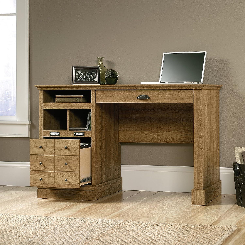 Amazon.com: Sauder Barrister Lane Desk in Scribed Oak: Kitchen & Dining