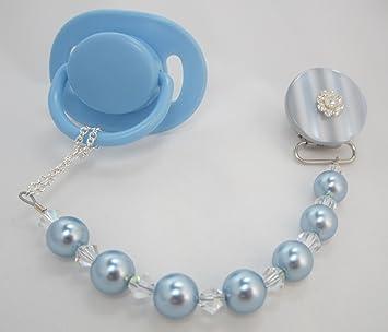 Crystal Dream lujo azul Swarovski perlas y cristales con Lacy Flower ...