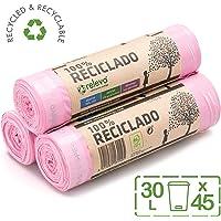 Relevo 100% Reciclado Bolsas Basura Perfumadas, extra resistentes